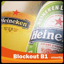 Blockout B1 - Werbeplane - einseitig bedruckt