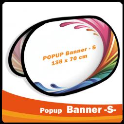 PopUp Banner -S- 138x70cm