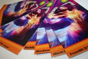 Musterfächer für UV-Druck Banner