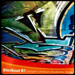 Blockout B1 beidseitig bedruckt - Werbebanner