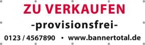 Werbebanner Vorlage -zu verkaufen- 300x100cm