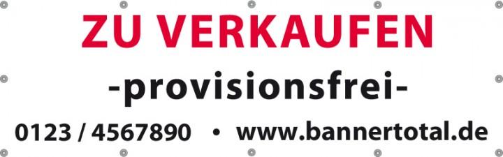 Werbebanner Vorlage -zu verkaufen- 300x100cm | Bannervorlagen ...