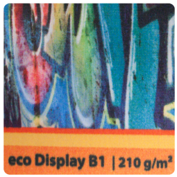 Fahnen- Displaystoff ecoDisplay 210