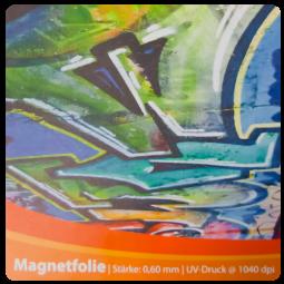 Magnetschild Folie