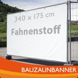 AKTION: Bauzaunbanner / Fahnestoff